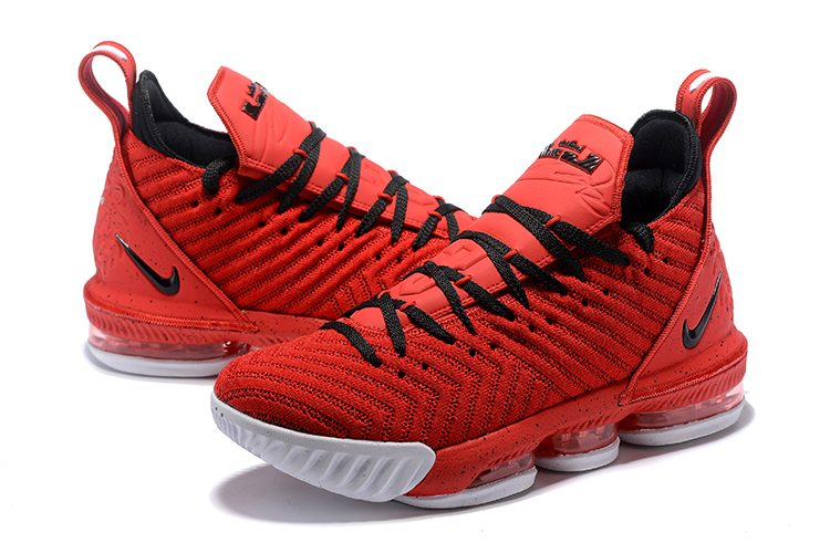 Women Nike LeBron 16 Red Black Basketball Shoes