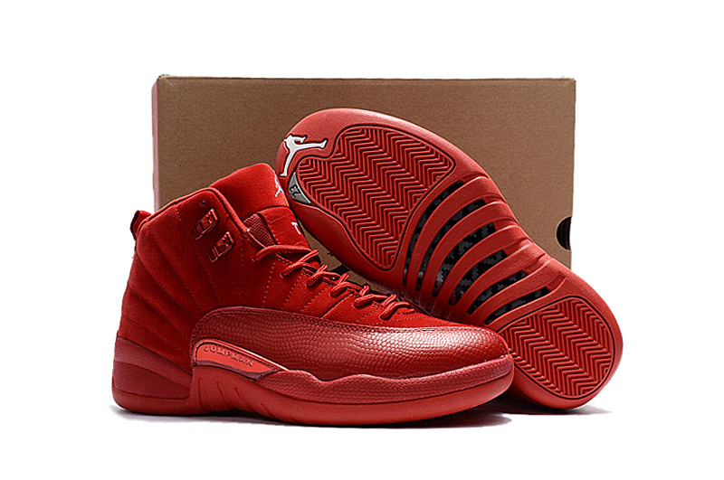 Women Air Jordan 12 Red Suede