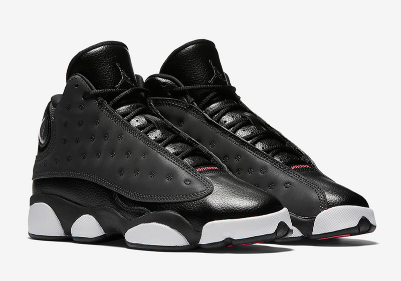Women Air Jordan 13 Black Anthracite Hyper Pink