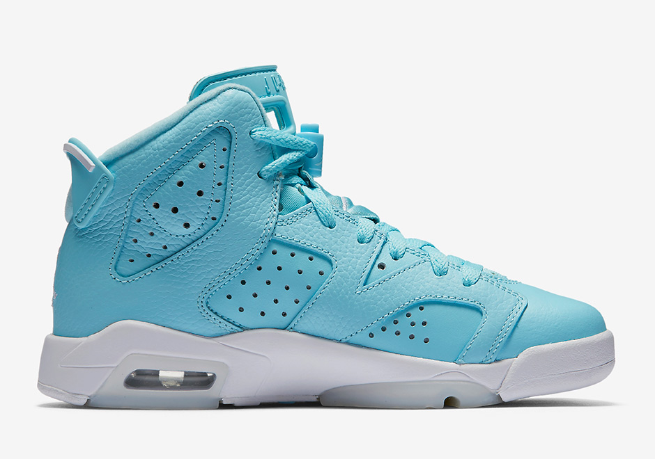 Women Air Jordan 6 GS Still Blue