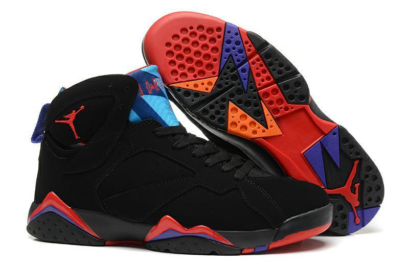 Women Air Jordan 7 Raptors Black Dark Charcoal True Red