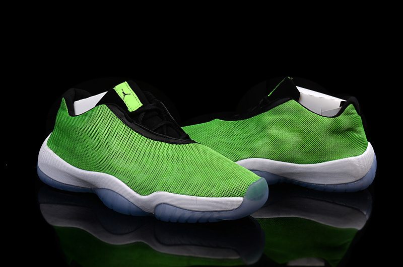 Women Air Jordan Future Low Burgundy Camo Fluorscent Green Black White Shoes