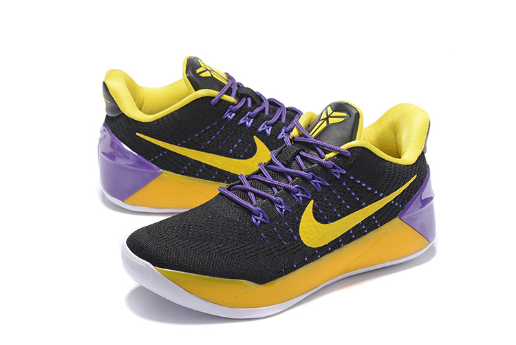 Women Nike Kobe 12 Black Yellow Purple Shoes