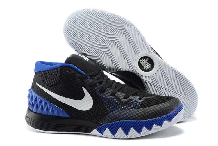 Women Nike Kyrie 1 Black Blue Basketball Shoes