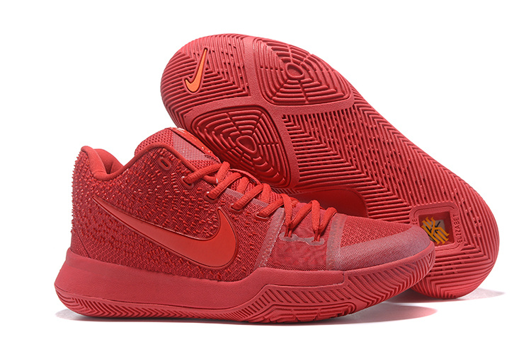 Women Nike Kyrie 3 All Red Shoes For Sale