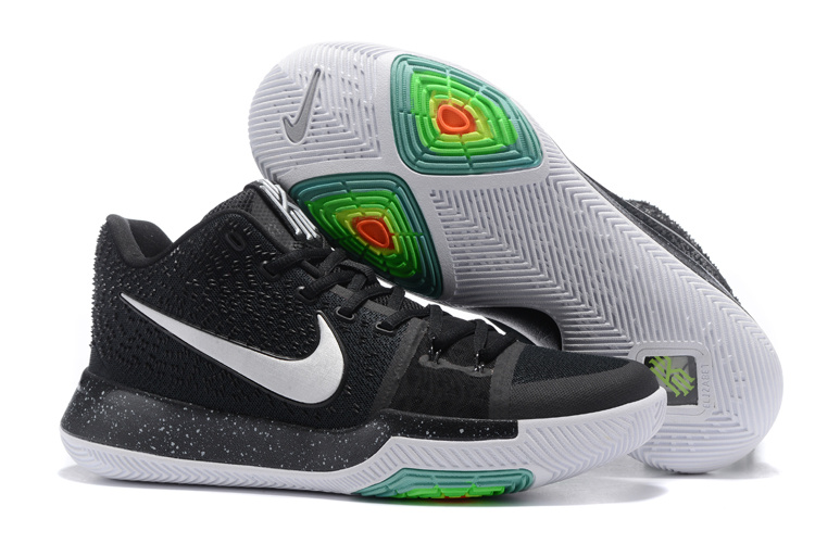 Women Nike Kyrie 3 Black White Shoes