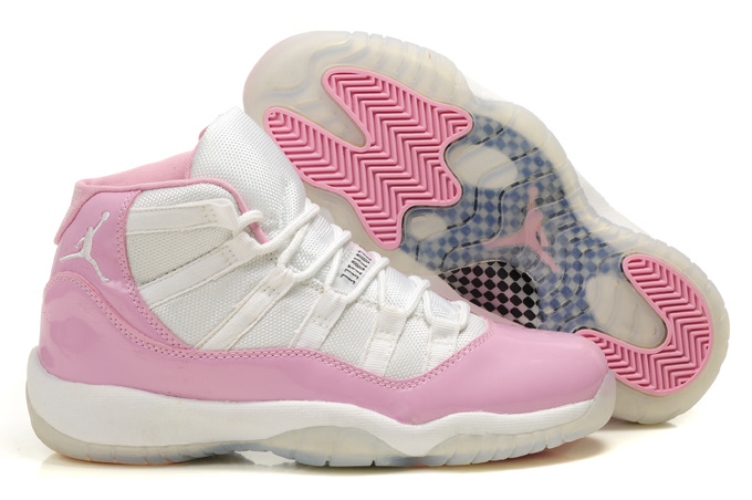 Womens Air Jordan 11 Retro White Pink Shoes