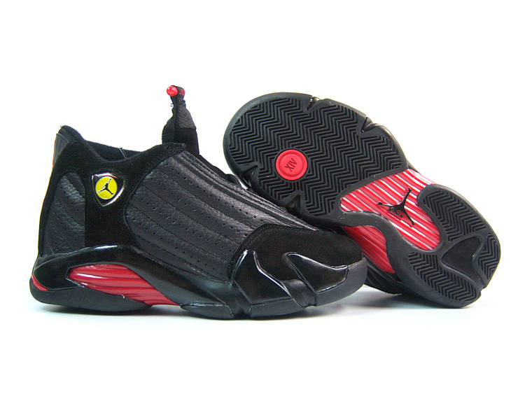 Womens Air Jordan 14 Retro Black Red Shoes