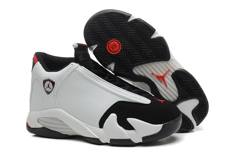 Womens Air Jordan 14 White Black Red Jumpman Shoes