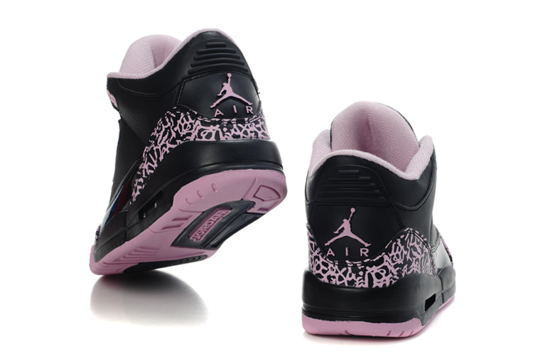 best service 5672a 74465 Womens Air Jordan 3 Retro Black Pink Cement Shoes Online Sale