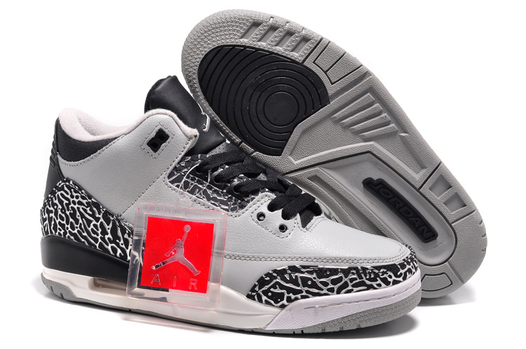 Womens Air Jordan 3 Retro Wolf Grey Shoes