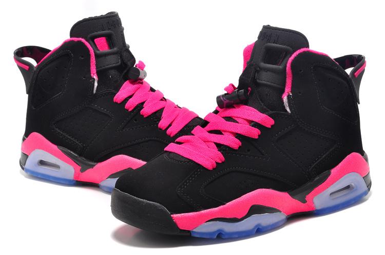 best website a26e9 4495f Discount Womens Air Jordan 6 Retro Black Pink Shoes Online