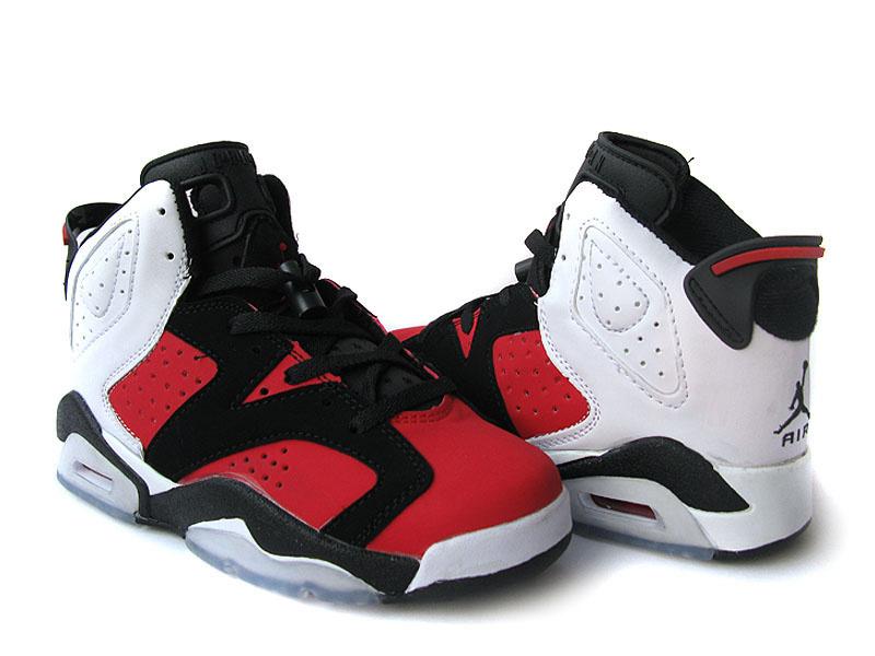 b7d403a61cc82a Discount Womens Air Jordan 6 Retro Black Red White Shoes Online