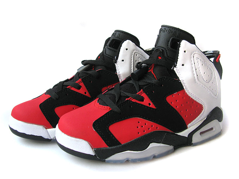 on sale 42ea6 01b4e Womens Air Jordan 6 Retro Black Red White Shoes