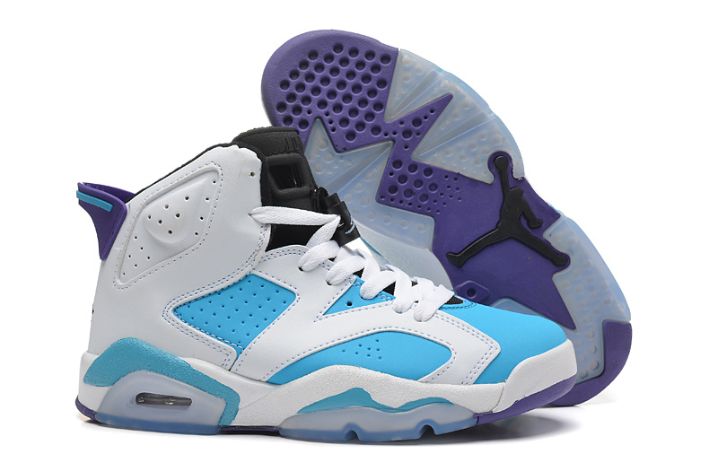 6e6503426d69bc Womens Air Jordan 6 Retro White Baby Blue Shoes