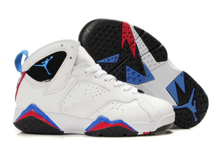 sale retailer a7928 32536 Womens Air Jordan 7 Retro White Black Red Blue Shoes