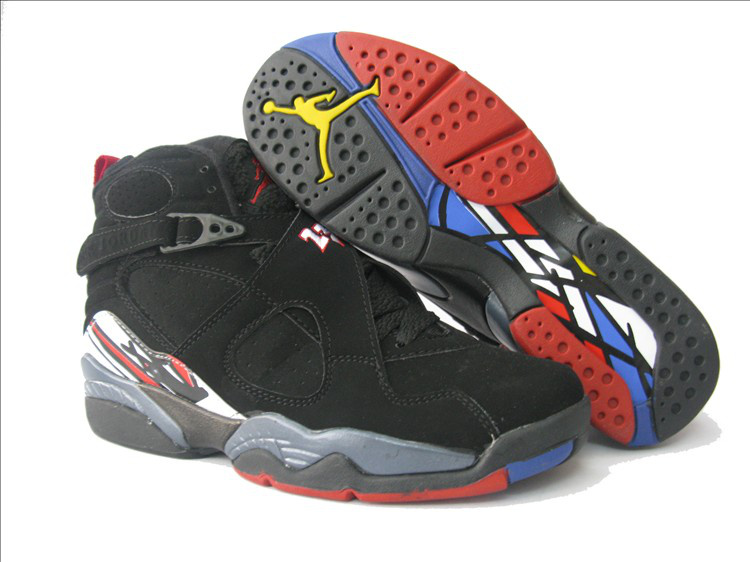 Womens Air Jordan 8 Retro Black Red Shoes