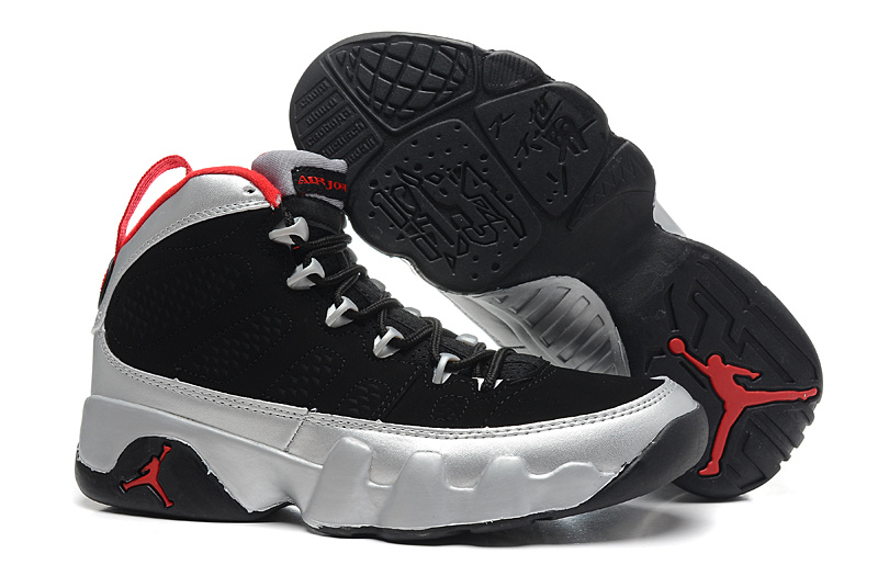 separation shoes ce383 0bb48 Womens Air Jordan 9 Retro Kilroys Black Silver Red Shoes