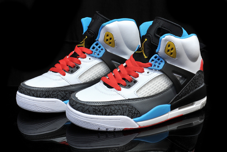 Womens Air Jordan3.5 White Black Blue Red Shoes
