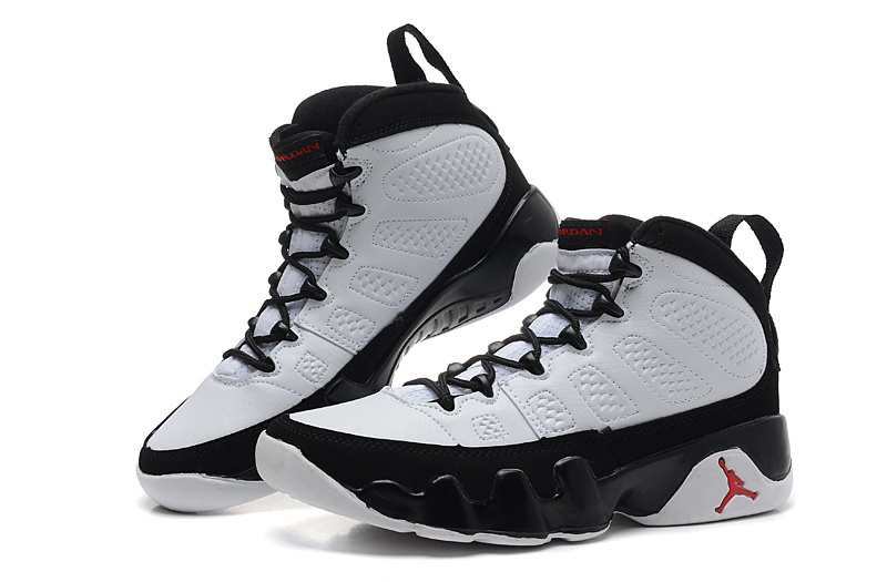 huge discount 0ebd7 a82d6 Womens Classic Air Jordan 9 White Black Red Shoes