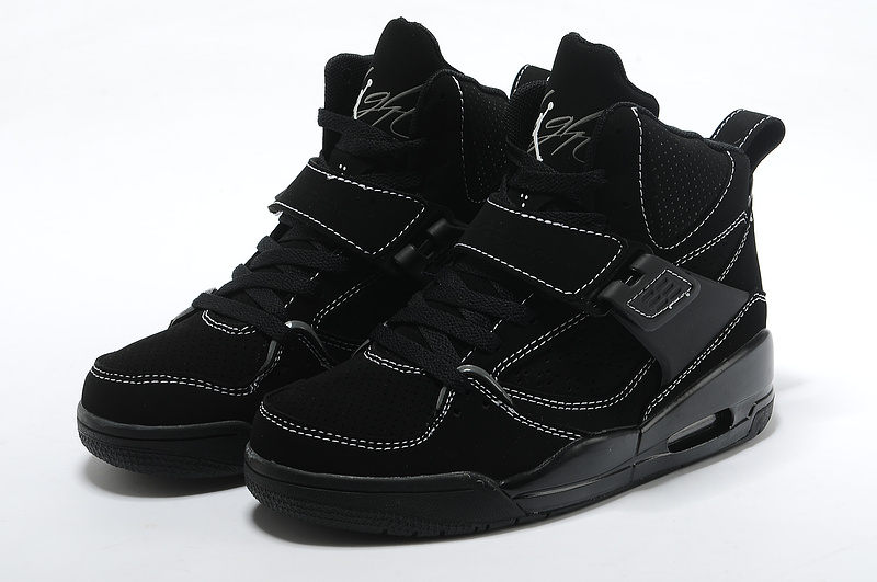 Womens Jordan Flight 4.5 All Black Shoes