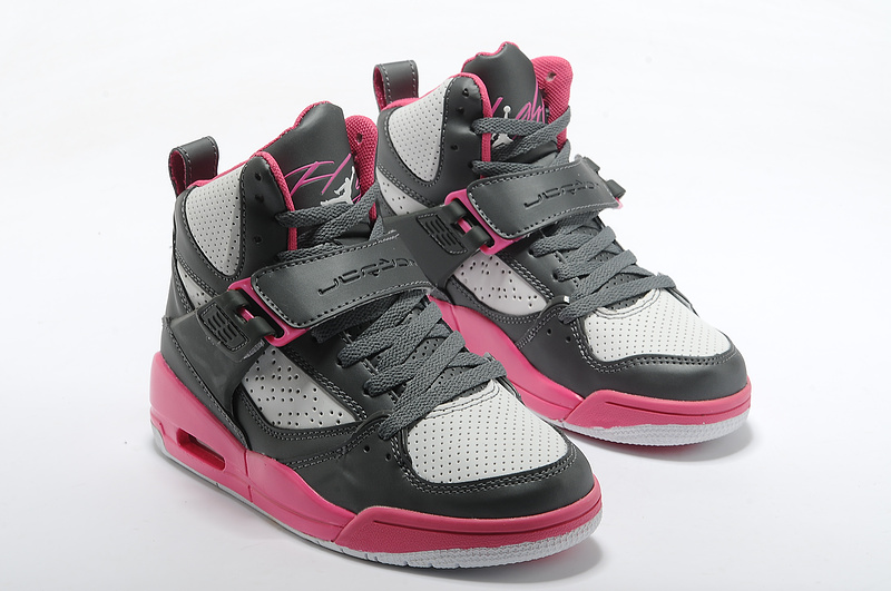 promo code aa1cd 4de3e Womens Jordan Flight 4.5 Black Grey Red Shoes