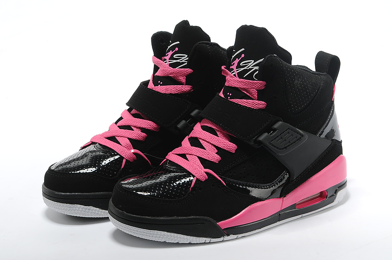 Womens Jordan Flight 4.5 Black Pink Shoes
