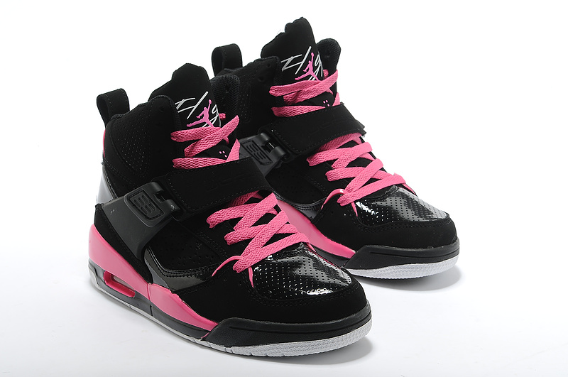 29b74928f95a Womens Jordan Flight 4.5 Black Pink Shoes Good Quality