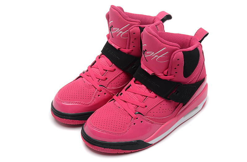 Womens Jordan Flight 4.5 Pink Black Shoes