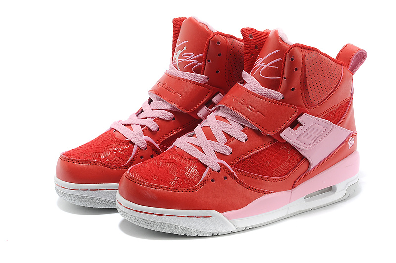 Womens Jordan Flight 4.5 Red Pink Shoes