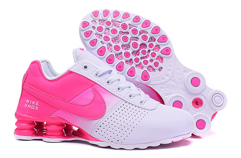 New Women Nike Shox OZ D White Peach Shoes