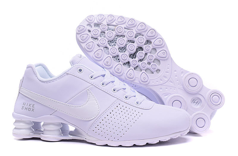 Women Shox OZ D All White Shoes