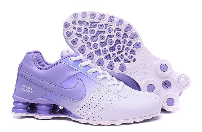 New Women Nike Shox OZ D White Purple Shoes