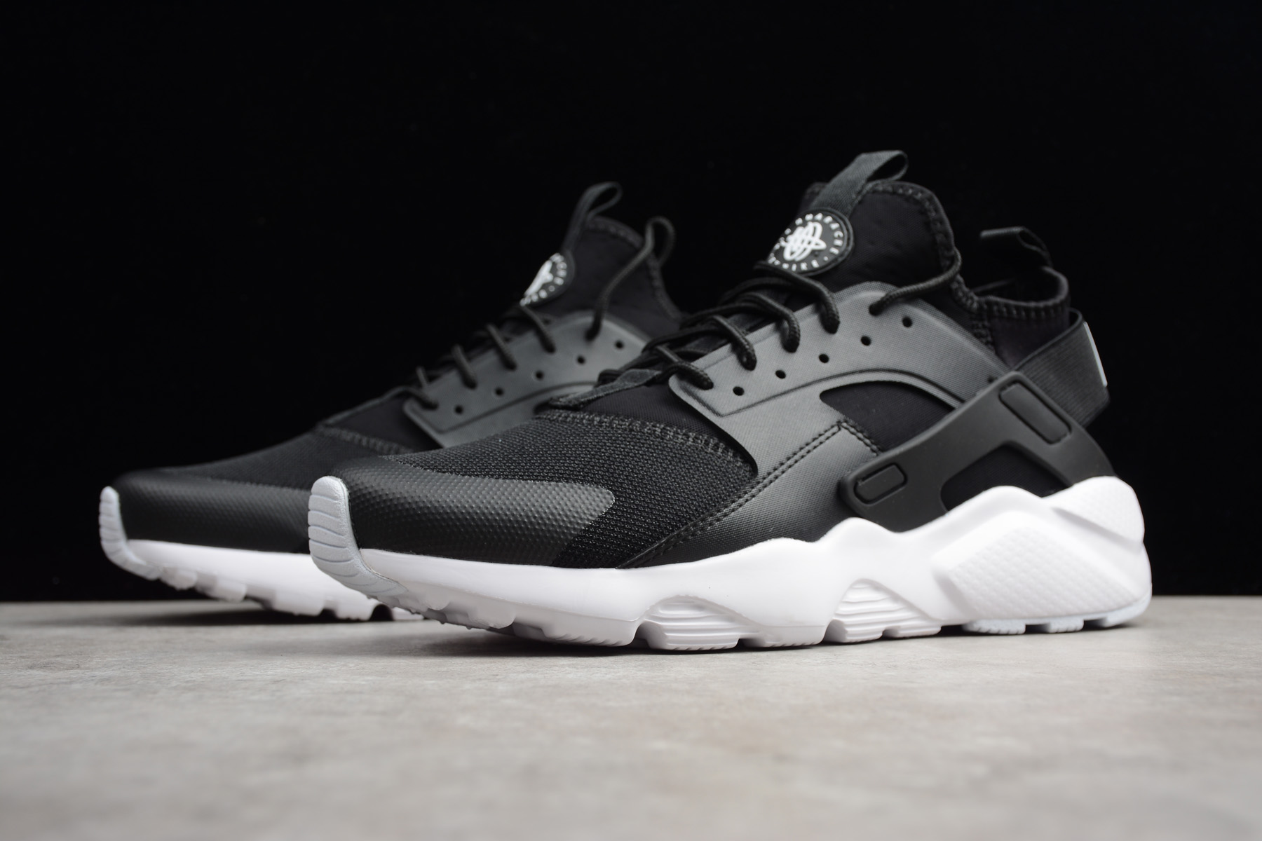 nike air huarache run ultra black white shoes