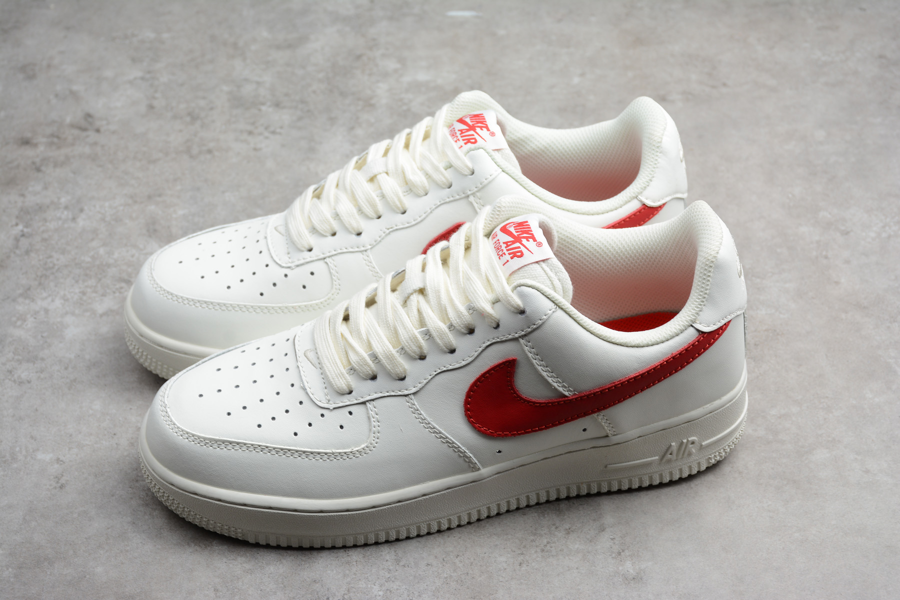 nike air force 1 low sail university red